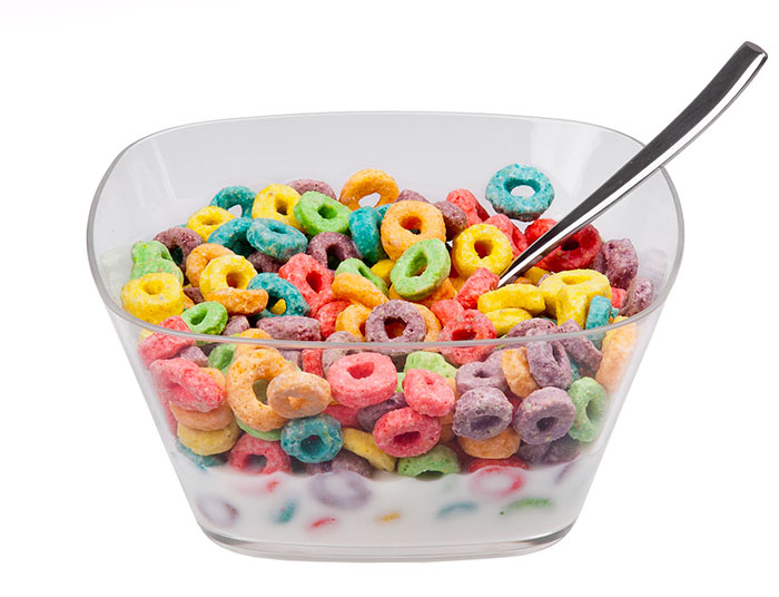 Sugary cereals do not make a good kid's breakfast